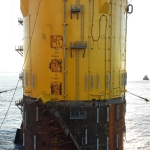 Gulfstar Floating Spar Upended