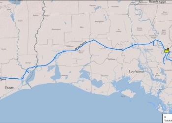 Bayou Ethane Pipeline Map