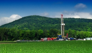 natural gas well site